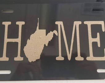 HOME state outline License Plate; Pick what state you want!