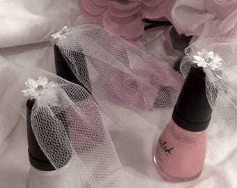 Bridal Veil ~ Nail Polish Veil ~ Bridal Shower Favor ~ Wedding Favor ~ Reserved Listing for Nicole A.