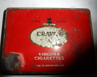 Craven 'A' Cigarette Tin Box
