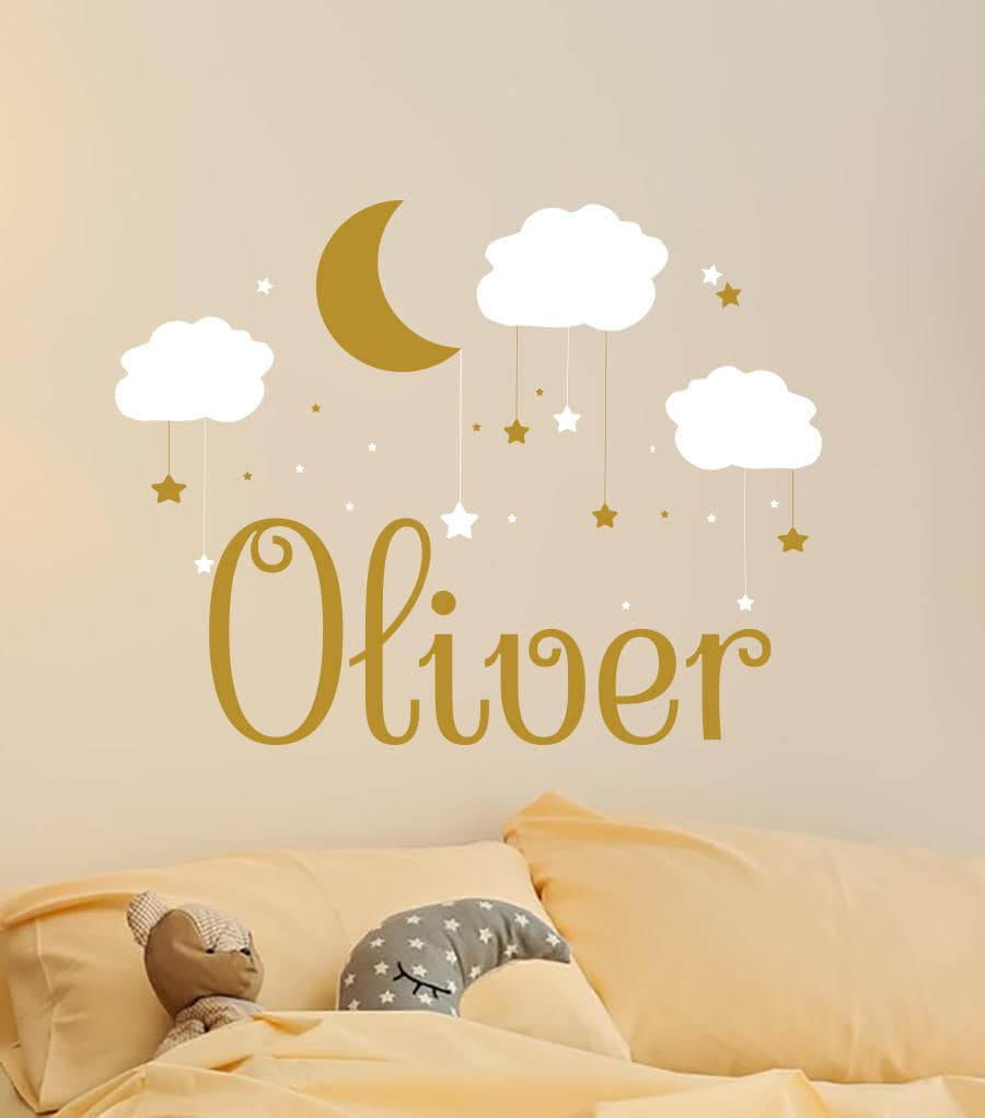 Name Wall Decal Baby Nursery Wall Decal Name Boy Nursery Vinyl
