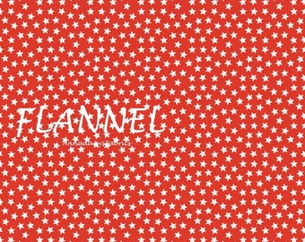 Red Stars Flannel Fabric, Riley Blake Lucky Star F4833, Red & White Flannel Quilt Fabric, Baby Quilt Fabric, Cotton