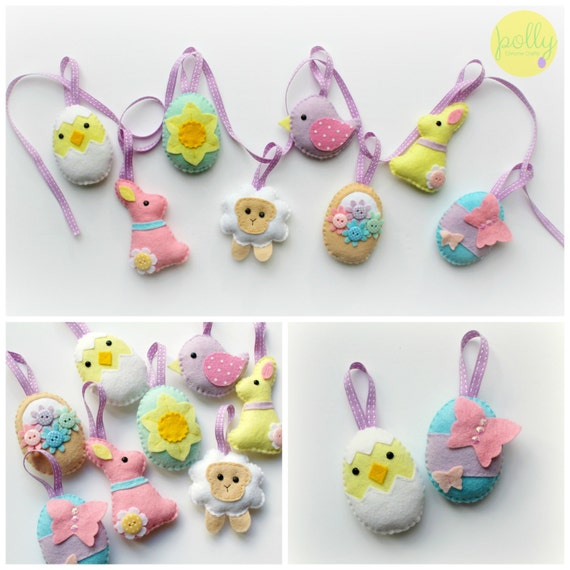 Make your own felt easter collection kit easter decorations negle Choice Image
