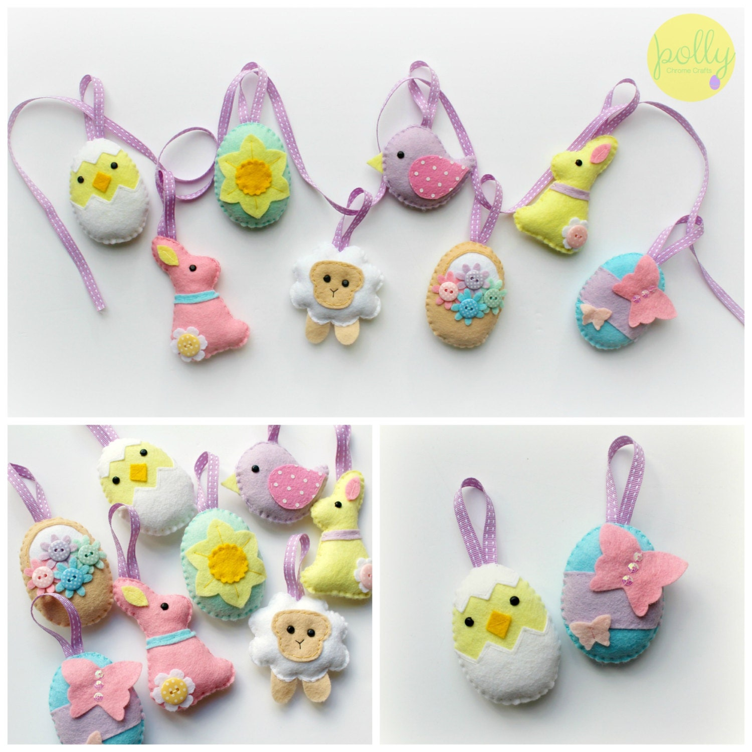Make your own felt easter collection kit easter decorations zoom negle Images