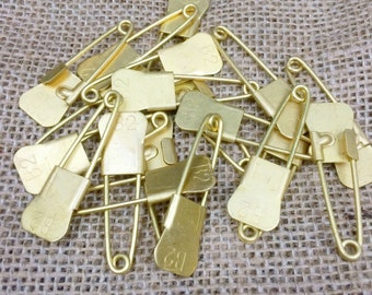 Vintage Military Brass Laundry Pins