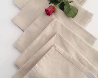 6 napkins table linen and cotton