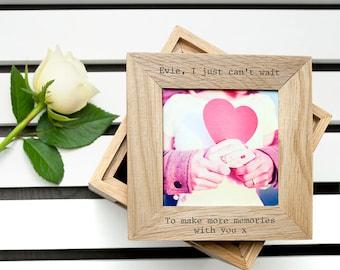 Personalised Oak Photo Cube Keepsake Box - Wedding Gift- Valentine's Day- Christening Gift - Romantic Gift - Housewarming -FREE UK DELIVERY!