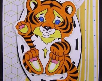 Tiger Birthday Card, Kid's Birthday Card, Happy Birthday Tiger