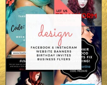 social media design, website banner, album cover design, graphic design, creative services, facebook ad design, marketing design, instagram