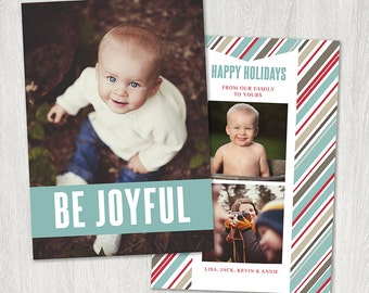 Be Joyful Christmas Card Template