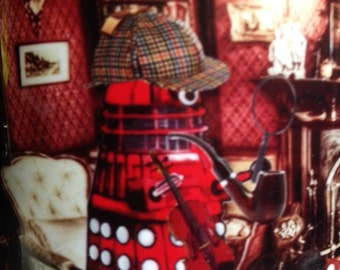 Dr Who Daleks as Sherlock Holmes and Dr Watson Mug