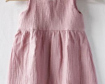 Dress in double gauze