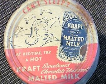 Collectible Vintage Kraft Malted Milk Jar