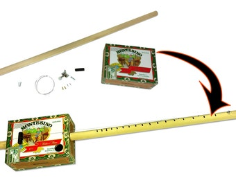 Complete One-string Cigar Box Guitar (Diddley Bow) Kit