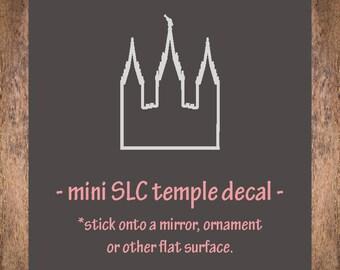 VINYL salt lake city temple outline / SLC temple decal / vinyl temple sticker / salt lake temple / LDS temple / mirror decal