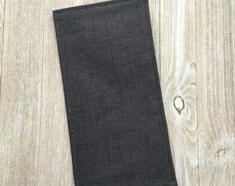 Tract Holder in Black Linen Print - Pockets for Invitations and Contact Cards Inside - Mens or Womens - jw tract holder - Ready to Ship