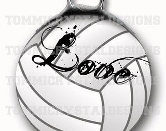 "1.5"" Volleyball MOM Soldered Art Collage Charm (also comes with no wording)"
