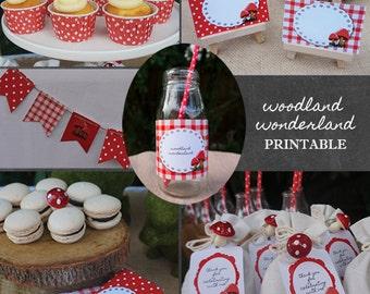 Printable Party Pack | Woodland Wonderland