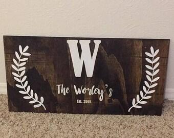 Custom Name 12x24 Wood Sign!