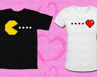 Pac-man heart