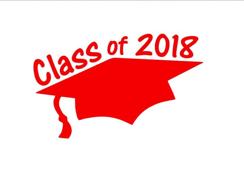 Class Of 2018 Graduation Cap Car Decal 2018 Grad Gift Class
