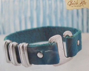 TierraCast DIY Leather Bracelet Kit Deco Fusion All Materials Included