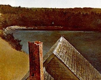 "Andrew Wyeth, Andrew Wyeth Print, American Art, American Artist, Americana, Wyeth Print, Wyeth Art, Pennsylvania Artist,""End Of Olsons 1969"""