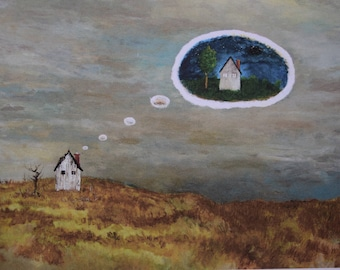 """Abandoned Home 8.5x11"""" giclee print on 110lb acid free paper by D. Grindle"""