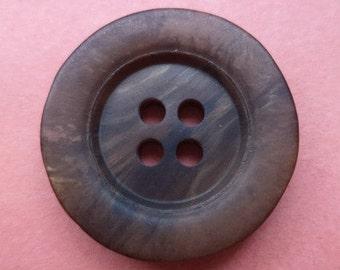 8 dark brown buttons 21mm (3223) button Brown