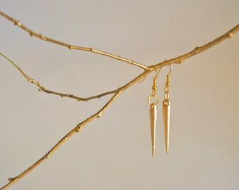 Gold Spike Earrings Subtle Punk