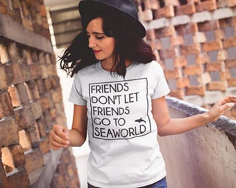 Friends Don't Let Friends Go To Seaworld Animal Liberation Graphic T-Shirt