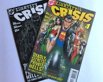 Identity Crisis 1 - First and Second Printings (Michael Turner Comic, Near Mint Condition, DC Comics)