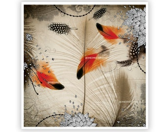 Feather Dance by Iveta Abolina -  Floral Illustration Print