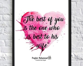Instant Download_Islamic wall art_The best among you - Marriage_Love A4