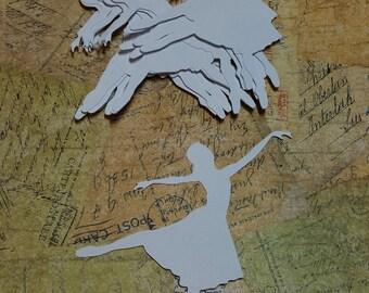4 inch Ballerina Die cut, silhouettes.  ART-10