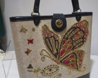 1960S Fabulous Butterfly Fancy Bag in an Enid Collins Style
