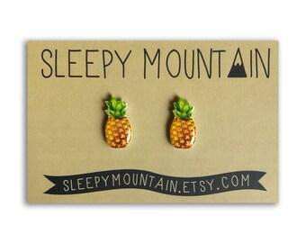 Pineapple Earrings - Sleepy Mountain Fruit Studs