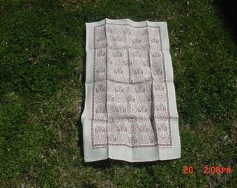 Vintage Linen Dish Towel Butter Mold Theme  18 - 935
