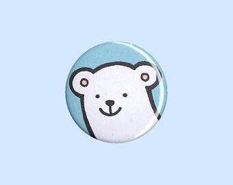 Polar Bear Badge - polar bear pin, polar bear button