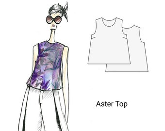 Aster Top, sizes 18-26, sewing patterns, pdf sewing pattern, sewing pattern for women, patterns for sewing, womens sewing patterns
