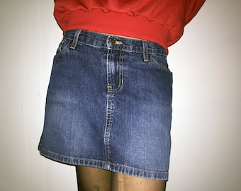 90s Abercrombie and Fitch Denim Mini Skirt Size 2