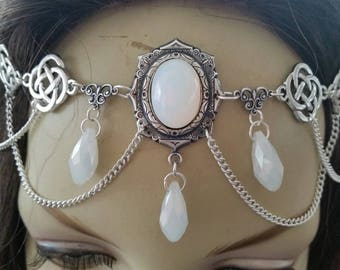 Opalescent Circlet of the Northern Bride celtic goddess druid larp elven