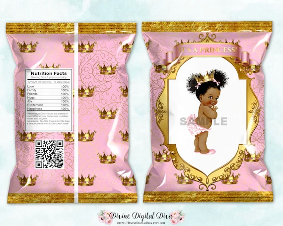 Its A Girl Banner Template Printable Chip Bags Pr...