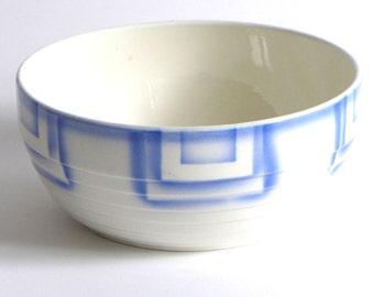 Art Deco Bowl, blue Spritzdekor