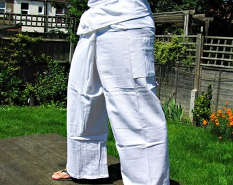 SUPER SIZE 100% Thick Cotton Thai Fisherman Pants