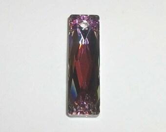 Swarovski Crystal Pendant 25x7mm Queen Baguette Style 6465 Crystal Pendant Beads VOLCANO
