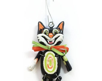 Scaredy Cat:  Inkie (Ornament) - CAN BE PERSONALIZED w/ Add-On Option