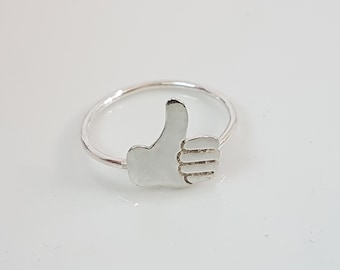 Thumbs up ring, Emoji ring, Whimsical ring, Novelty ring, Fun ring, Cheer up gift