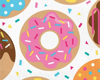 Donut Party Luncheon Napkins, Donut theme party, Donut Party, Donut Party Napkins, Party Supplies,