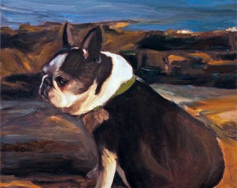 Custom Pet Portrait Painting - personalized art from photo