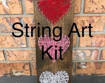 DIY Heart String Art Kit - DIY String Art - DIY String Art Kit - Heart String Art Kit